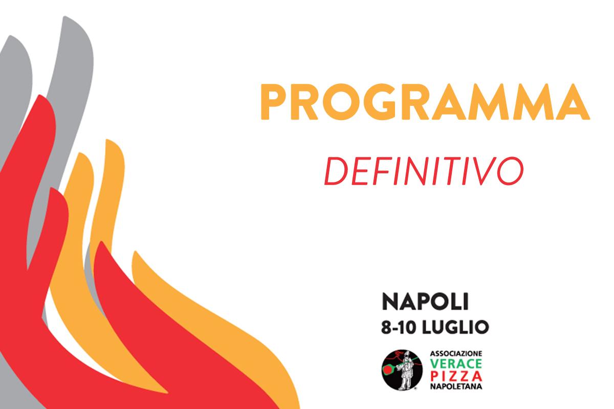 Scarica subito il programma definitivo delle Olimpiadi della Vera Pizza Napoletana