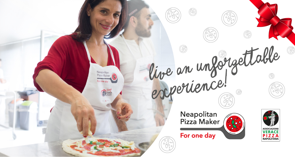 "Out of ideas for Christmas gifts to your loved ones?  ""Neapolitan Pizza-maker for one day"" is the answer!"