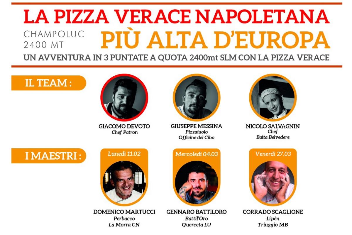 La Vera Pizza Napoletana più alta d'Europa. Tutto pronto per battere il guinness.