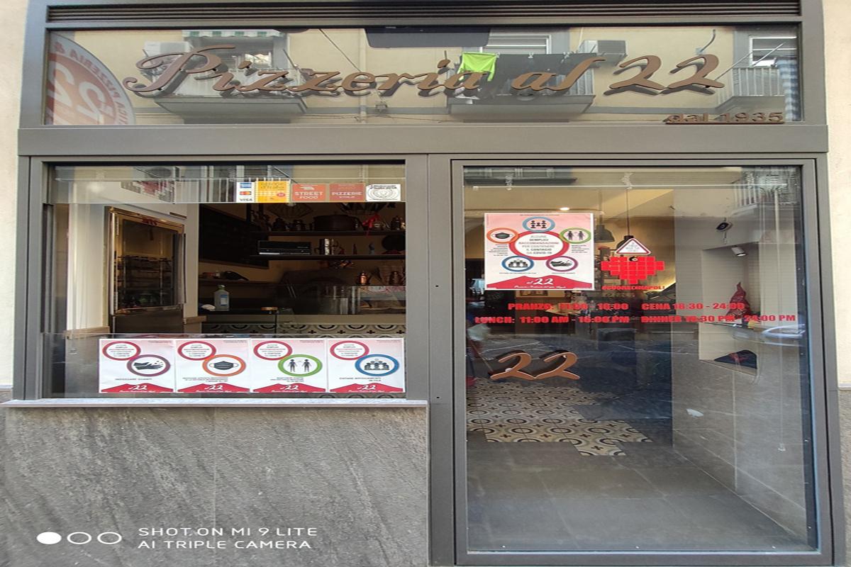 Pizzeria: Pizzeria al 22