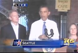 Joe Fugere di Tutta bella in Seattle con il Presidente Obama