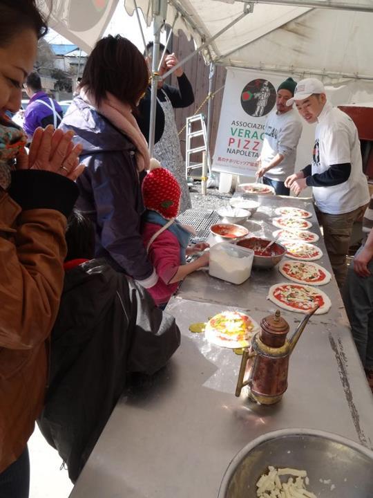 Una pizza per i bambini di Tohoku 2012