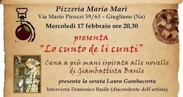 """""""Lo cunto de li cunti"""", cena a più mani ispirata alle novelle di Giambattista Bas"""